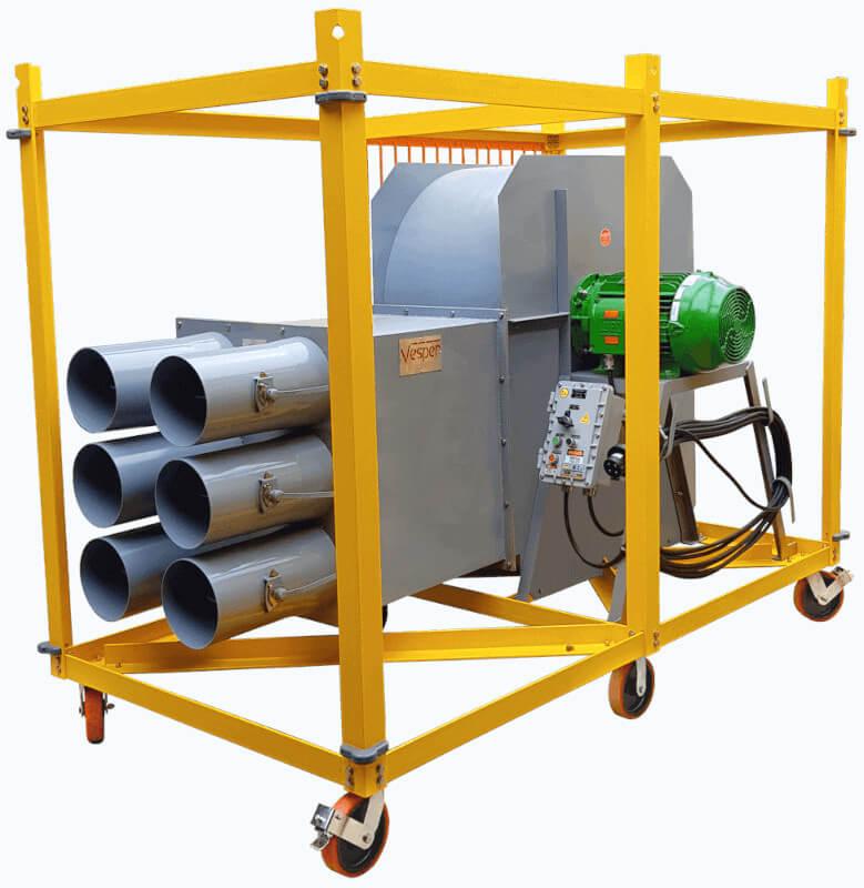 Sistema de Insuflamento c/ Suporte Skid